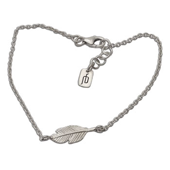 Feather Bracelet Silver