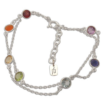 Well being Chakra Bracelet Silver and Gemstones