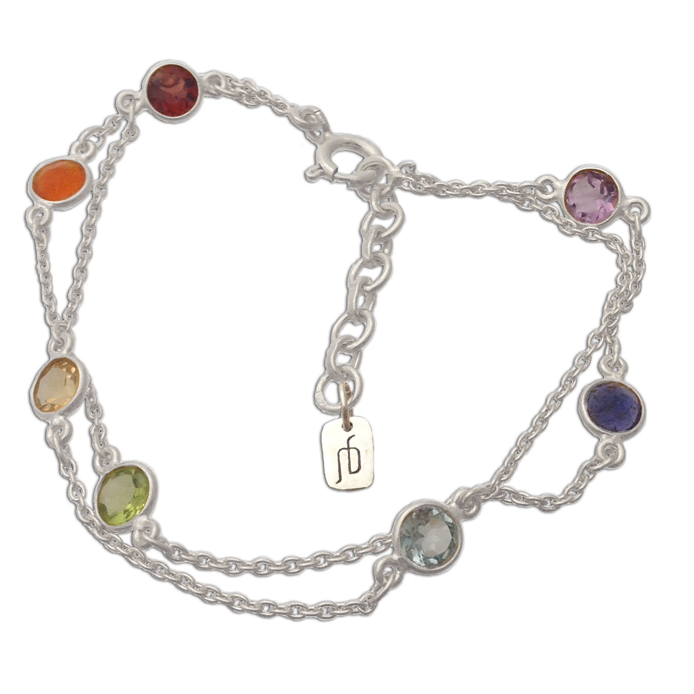 Well Being Chakra Bracelet Silver And Gemstones Chakras