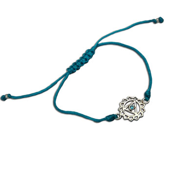 Throat Chakra Bracelet Adjustable Turquoise
