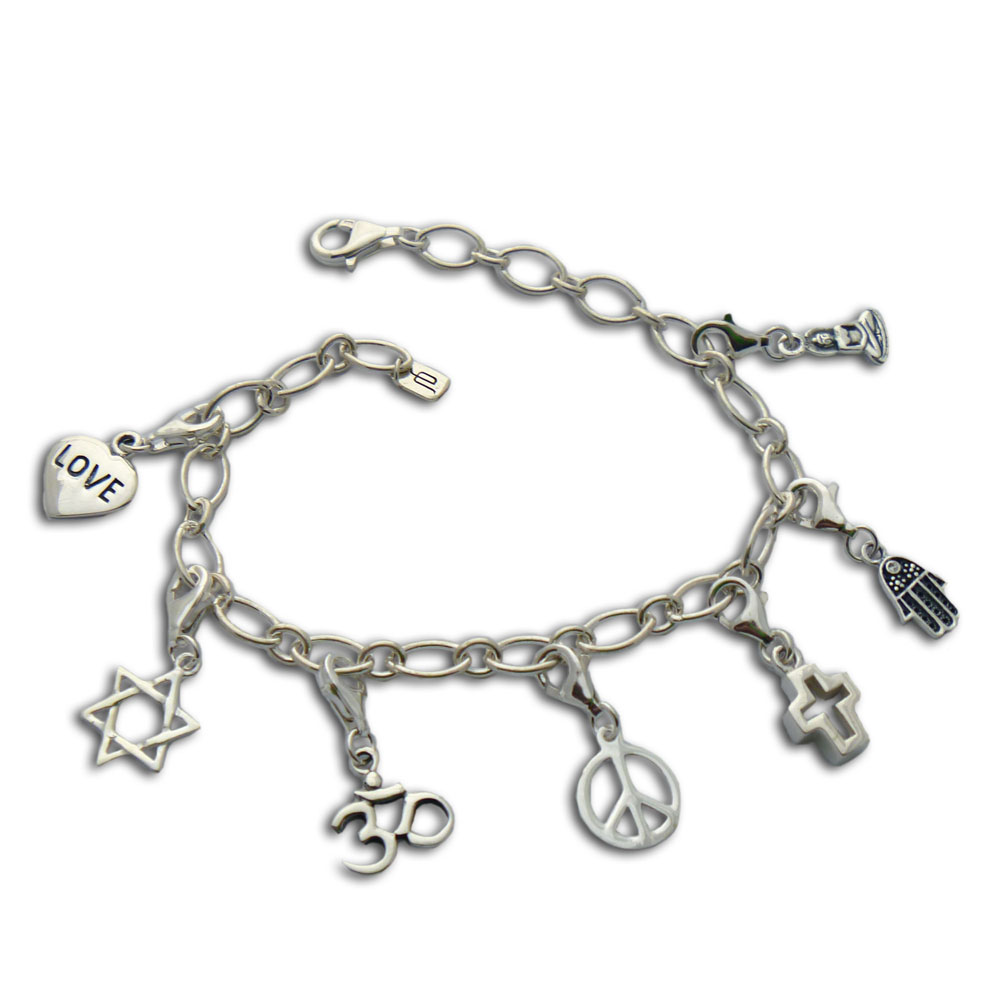 coexist karma charm bracelet sterling silver