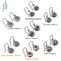 Good Vibes Chakra Earrings Silver Set of 7