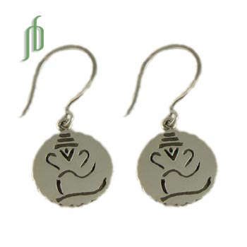 Ganesh Earrings Sterling Silver SALE