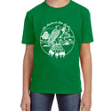 Feathered Pipe T-shirt Short Sleeve KIDS Retro Kelly Green