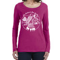 Feathered Pipe Ranch T-shirt Long Sleeve Women's Retro Raspberry