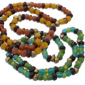 Buddha Mala Necklace Recycled Glass & Brass