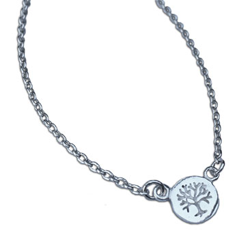 Tree of Life Necklace Silver Adjustable