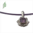 Lotus Amethyst Necklace SALE