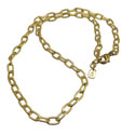 Charmas Necklace Base Oval Chain Recycled Brass 17 Inches