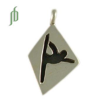 Lord of the Dance Pose Pendant Sterling Silver Yoga