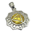 Good Vibes Solar Plexus Chakra Stone Pendant Silver