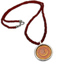 Sacral Chakra Painting Carnelian Necklace 18 inch